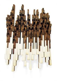 Piano As Art Standing Ovation A collaboration between Penny Putnam and Shauna Holiman, inspired by piano parts and in many cases composed of the parts themselves. http://happyommaker.com/posts/view/33