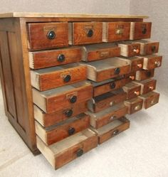 A fantastic 1920s Pine and Elm Drawer Unit!