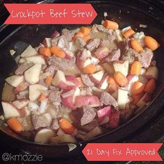 Beef Stew! 21 Day Fix Approved (1 Green, 1 Red, 1 Yellow, 1 tsp)