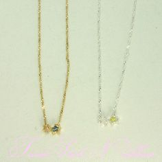 A girl falls in love with favorite cute form at first sight. It is delicate jewelry with the sense of the times in the basic design to be able to love for a long time. It features the design which two small-sized stars stood in cutely. Sisters version includes three kinds of the heart star ribbon. The shapes of the chain are delicately each different, and is it fun I prepare all kinds, and to use properly?  Size: Chain 39cm - 43cm, star /1cm