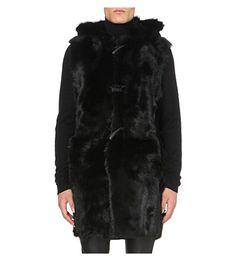 GIUSEPPE ZANOTTI Longline Shearling Gilet. #giuseppezanotti #cloth #coats & jackets