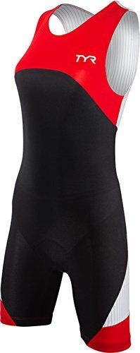d7f2a542a5 TYR Sport Womens Sport Carbon Zipper Back Short John Skin Suit with Pad  BlackRed XLarge     More info could be found at the image url. Fashion
