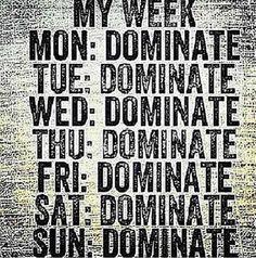 My week...