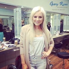 Karlien van Jaarsveld with her beach blonde look