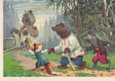 Postcard Illustration by Nosov for Russian by RussianSoulVintage