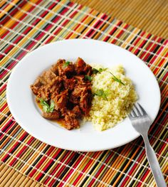 Spicy Ethiopian Stewed Beef called Key Wat from A Duck's Oven. A simple, rich stew that can be done in a dutch oven or the crock pot.