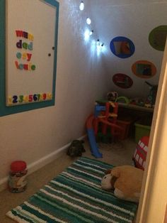 My Sons New Understairs Sensory Room Playrooms Under Stairs - Popular Toy Room Storage, Stair Storage, Fabric Storage, Under Stairs Playroom, Under Stairs Playhouse, Playroom Ideas, Basement Ideas, Mason Jar Storage, Kids Play Area
