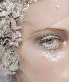 Luminous Silver Glitter  #editorialmakeup