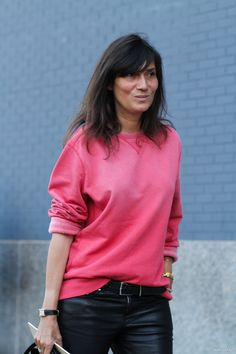 look who put on some color ... Emmanuelle Alt in NYC
