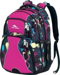 Swerve Laptop Backpack- Women's Lola Rays, Fuchsia, Black