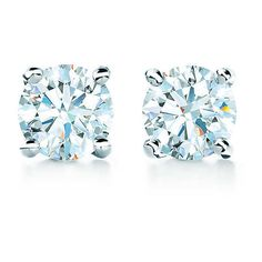 Tiffany Solitaire Diamond Earrings ($1,200) ❤ liked on Polyvore featuring jewelry, earrings, accessories, tiffany, brincos, tiffany co jewellery, tiffany co jewelry, diamond earring jewelry, earring jewelry and diamond earrings