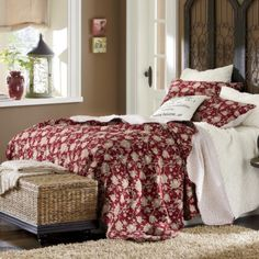 Stanford Oversized Reversible Quilt and Sham from Through the Country Door® Bedroom Bed, Dream Bedroom, Bedrooms, Feminine Bedroom, Country Bedding, Neutral Pillows, Dreams Beds, Red Interiors, Make Your Bed