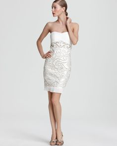 64b440458cc Sue Wong Strapless Dress - Embellished