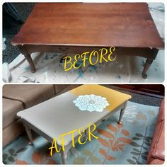Cherry coffee table up-cycle