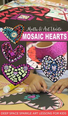 Hearts Art Lesson This Valentine's Day art project is a perfect combination of art and math. Full lesson plan at Deep Space Sparkle.This Valentine's Day art project is a perfect combination of art and math. Full lesson plan at Deep Space Sparkle. Art Lessons For Kids, Art Lessons Elementary, Valentines Day Activities, Valentine Day Crafts, Valentines Art For Kids, Valentines Art Lessons, Kindergarten Art, Preschool Art, Art 2nd Grade