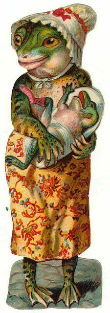 Large Victorian Frog, dressed..VintageAnimals02..