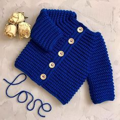 Easy And Beauty Crochet Baby Clothes Pat - Diy Crafts - maallure Baby Cardigan Knitting Pattern, Crochet Baby Cardigan, Newborn Crochet, Baby Knitting Patterns, Baby Patterns, Knit Crochet, Sweater Cardigan, Knitted Baby Clothes, Hand Knitted Sweaters