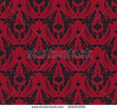 Damask Scrapbook Paper. Vector illustration pattern.