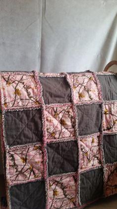 Pink Realtree Camo Rag Quilt by TreasuredAndTimeless on Etsy