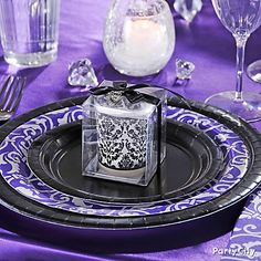 Purple Party Decor | Dramatic Purple Engagement Party Decoration Ideas - Party City