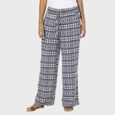The Duesouth women's wide leg pull-on pants in woven viscose are bound to become your spring / summer staple. Available in black, navy tribal print and blu Due South, Leg Pulling, Pull On Pants, Tribal Prints, Wide Leg, Pajama Pants, Spring Summer, Legs, Printed