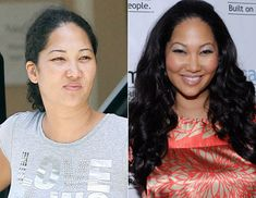 REAL pics of celebrities with and without their makeup. This made me feel SO NORMAL. :) lol