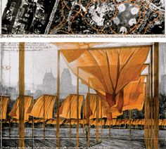 Plans for The Gates (Project for Central Park, New York City) by Christo and Jeanne-Claude