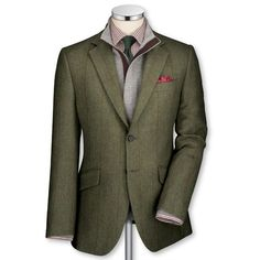 Charles Tyrwhitt Green Country Check Jacket
