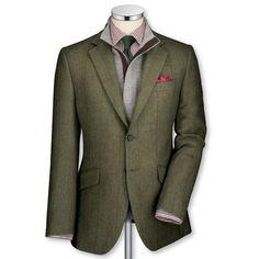 Charles Tyrwhitt Green Country Check Jacket