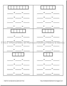 flashcard worksheets - math fact family