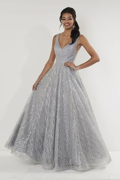 bf4832a3c9d97 Jacquelin Bridals Canada - 12738 - Prom - The fabric in this shiny prom gown  is cracked ice; Bodice has a flattering V neckline and back, a waist band  and a ...