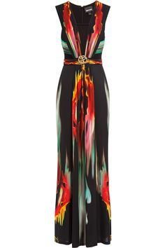 8 Things To Wear To YOur Friend's Beach Wedding: Just Cavalli Printed Maxi Dress, $1,645; stylebop.com   - ELLE.com