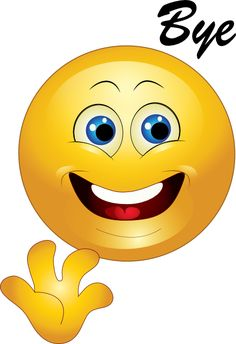 You can share this bright-eyed smiley on someone's timeline when you want to leave them a quick goodbye message.
