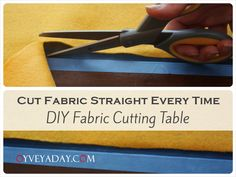 How to Cut Fabric (When You Don't Have a Cutting Table at Home) from Oyveyaday.com