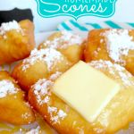 Scones Recipe *Get more RECIPES from Raining Hot Coupons here* This Scones recipe is pretty dang easy (considering my hubby is the one that makes them)! Guess what, you don't even need a deep… Easy Desserts, Delicious Desserts, Dessert Recipes, Yummy Food, Scone Recipes, Beignets, Homemade Scones, Love Food, Yummy Treats