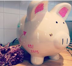 A personal favorite from my Etsy shop https://www.etsy.com/listing/223136319/piggy-bank-chic