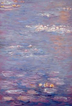 """""""Water lilies"""" Claude Monet, somewhere between Impressionism Monet Paintings, Landscape Paintings, Abstract Paintings, Famous Artists Paintings, Indian Paintings, Abstract Oil, Monet Wallpaper, Van Gogh Wallpaper, Artistic Wallpaper"""