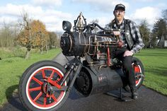 Mad Motorcycle Mechanic Builds Steam Powered Bike