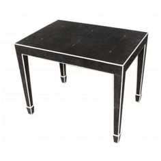Melrose Side Table in Shagreen and Bone