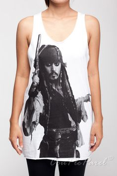 Johnny Depp Shirts Pirates of the Caribbean Shirt by CouPleParel, $15.99