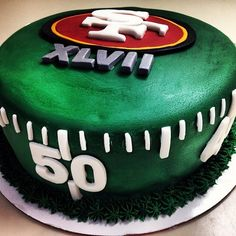 Easy Superbowl cake but need it in Seattle Seahawks version!