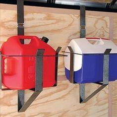 RACK 'EM 5 Gallon Gas Can Cooler Rack! The RACK 'EM 5 Gallon Rack can also hold a cooler!
