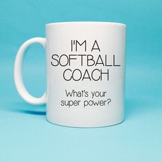 Softball Coach Gift Gift for Softball Coach by TheCoffeeCorner