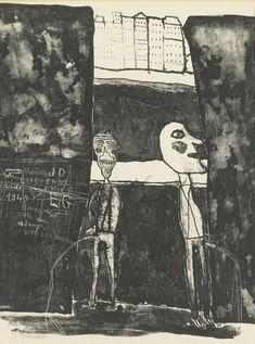 Jean Dubuffet, Pisseurs au Mur (Webel 62) (1945)