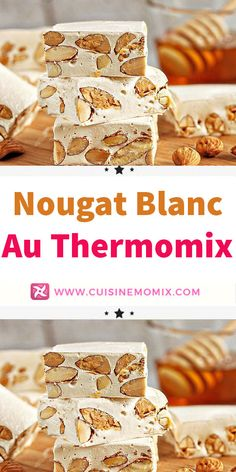 Learn the way to make a scrumptious white nougat with pure and artisanal honey very simply together with your Thermomix. Creative Desserts, Desserts For A Crowd, Cute Desserts, Fall Desserts, Chocolate Desserts, Delicious Desserts, Cheap Clean Eating, Clean Eating Snacks, Cheap Easy Meals