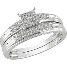 1/6 Carat T.W. Diamond Bridal Set in 10kt White Gold