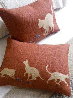 Cat Cushions by Helkatdesign