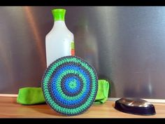 Learn How to Crochet - Spiral Scrubbie Tutorial (Dishcloth Washcloth Tribble Tawashi Scrubby) Learn To Crochet, Washing Clothes, Cool Kitchens, Bubbles, Creations, Youtube, Homemade, Diy, Zero Waste