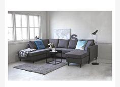 Oslo U-sofa venstrevendt brunmeleret Couch, Furniture, Home Decor, Settee, Decoration Home, Sofa, Room Decor, Home Furnishings, Sofas