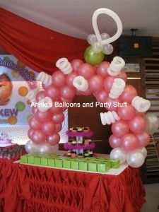 Balloon Arch for Cupcake Tower